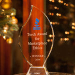 "Better Business Bureau of San Diego 2014 ""Torch Award for Marketplace Ethics"" awarded to Vows from The Heart Ministries"