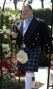 "Rev. Christopher MacFarlane Tuttle (FSA, Scot) Scottish Parson - Christopher proudly wear the ""Tartan of the Clergy"" [Breacan nan' Cleirach]"