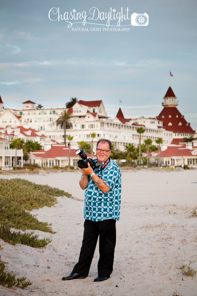 "Unkle Papa ""On location"" on Coronado Island at the historic Hotel Del Coronado | Photographaloha.com Photo Credit: Chasing Daylight Photography"