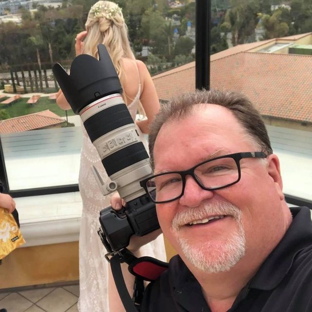 """Unkle Papa """"On location"""" getting ready for the First Look Photo 